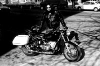 Steve with motorcycle, 1979